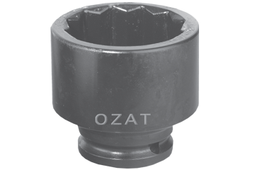 "12 PT. 1"" SQ. DR. X 2-5/8"" 67 MM SOCKET"