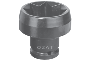 "8 PT. 1"" SQ. DR. X 2-1/4"" 57 MM DEEP WELL SOCKET"
